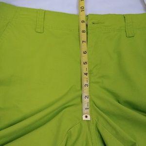 Crown & Ivy Pants - Crown & Ivy Lime Green Capris